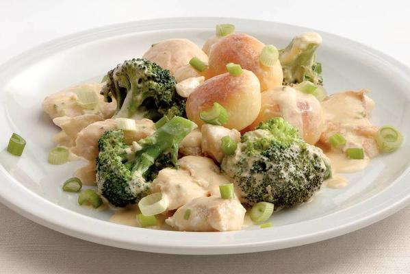 potato broccoli stew with cod
