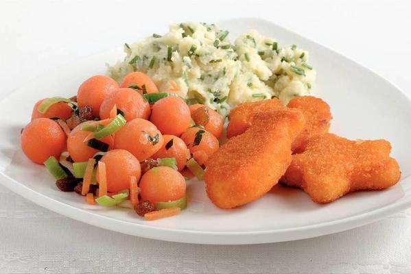 fish figures with carrot balls