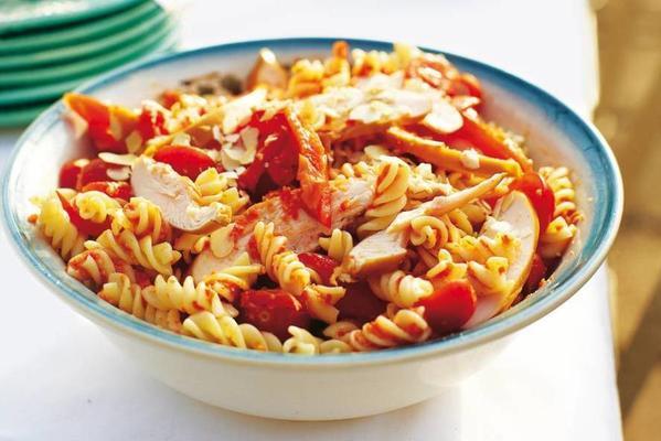 red pasta salad