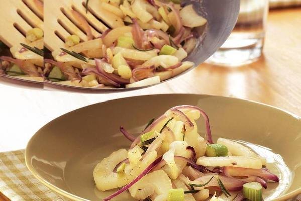 fennel with red onion from the wok