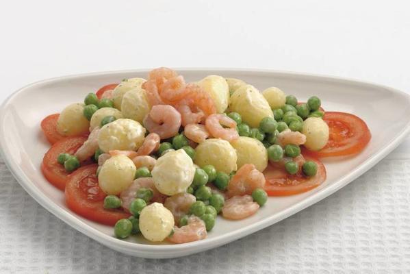 shrimp meal salad with slender dressing