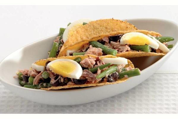tacos with tuna salad