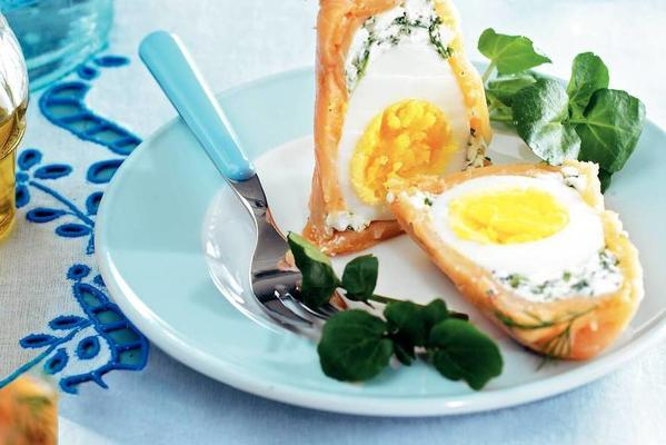 eggs in smoked salmon