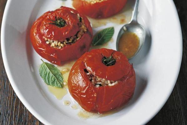 antonio carluccio's stuffed tomatoes from the oven