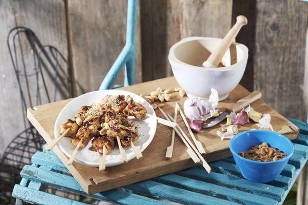 chicken satay with seroendeng