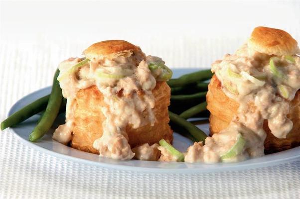 patties with salmon ragout
