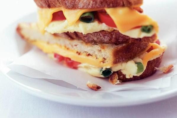 sandwich with mustard and mashed potatoes