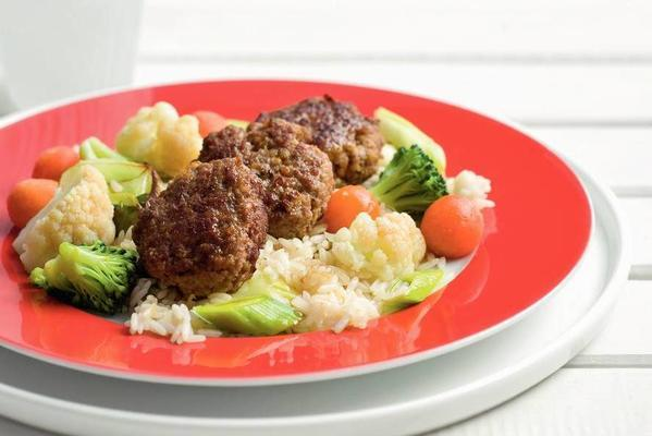 minced burgers with Dutch vegetable list