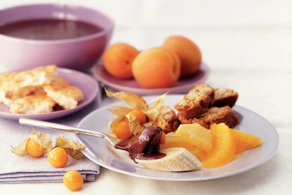 chocolate fondue with a hint of orange