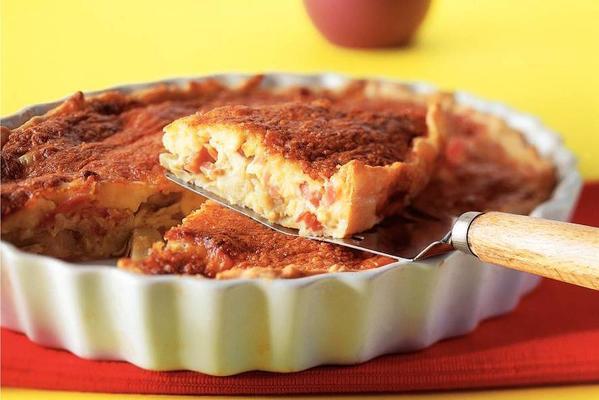 cheese ham pie with artichokes