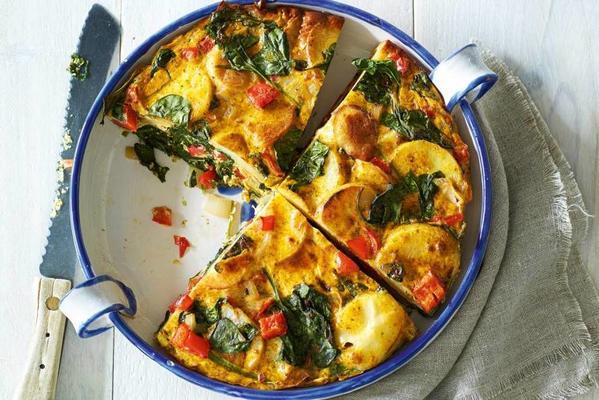 spanish tortilla with spinach