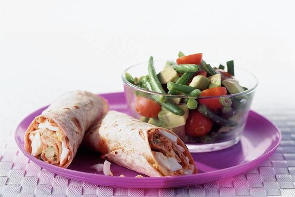 wraps with bean salad