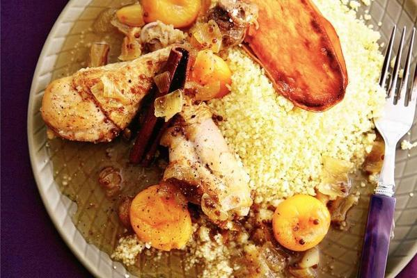 Moroccan chicken with apricots