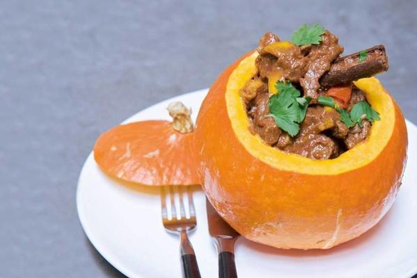 stuffed pumpkin with stew