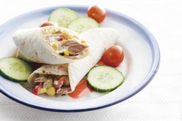 tortilla wrap with tuna