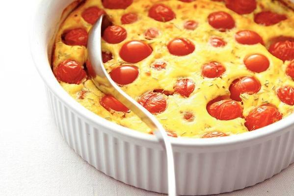 tomatoes in cheese from the oven