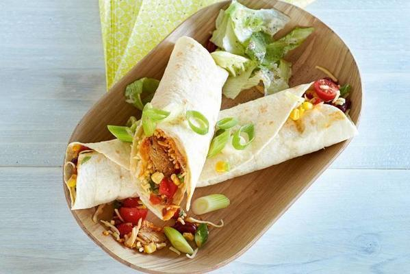 tortilla wrap with herring