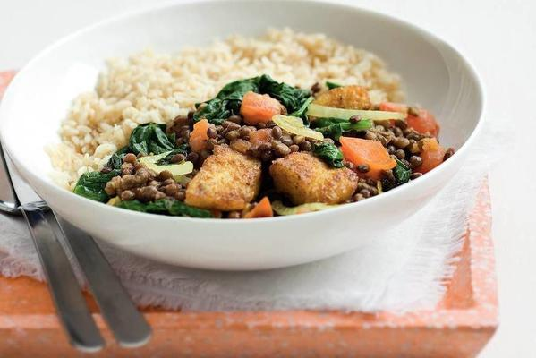 lentil curry with fish