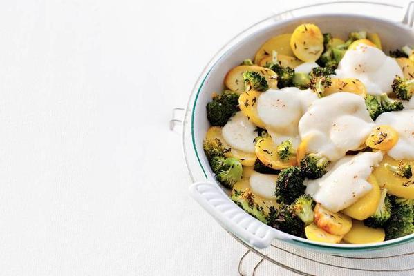 broccoli-mozzarella dish