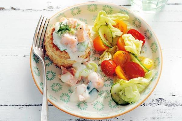 leek-fishragout with salad