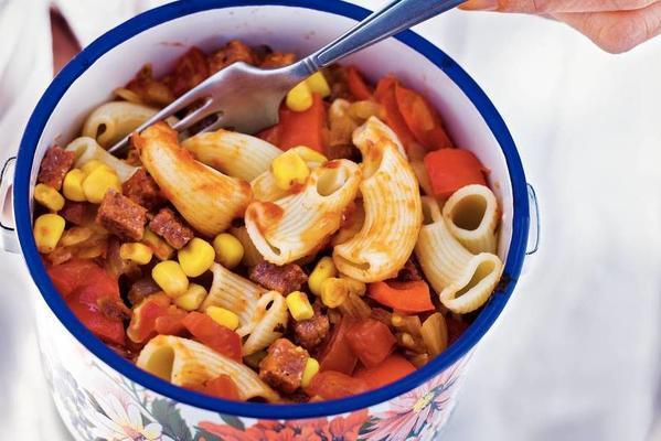 macaroni with corned beef