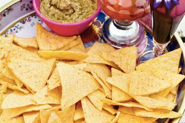 tortilla chips with fast salsas