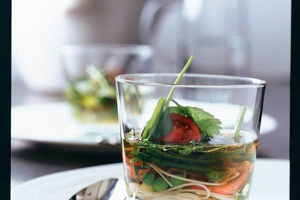 cold served clear vegetable stock