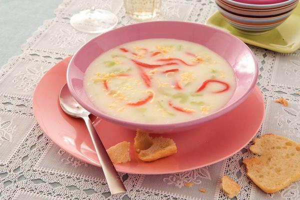 cheese celery soup with paprika