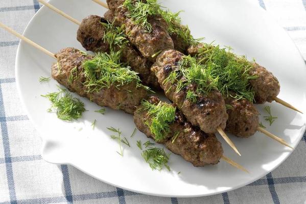 scandinavian meat skewer