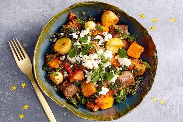 chili-kale stew with sausage