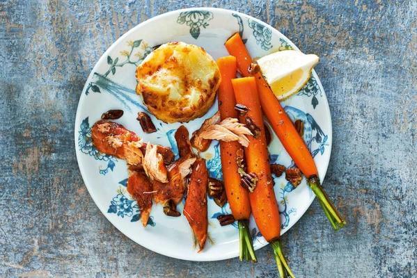 gratins with hot smoked salmon