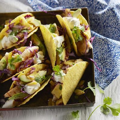 fish tacos with mango lime salsa