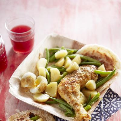 homemade roti with chicken