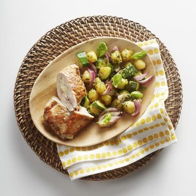 little chicken with Italian schnitzel