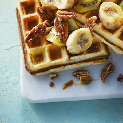 make waffles yourself