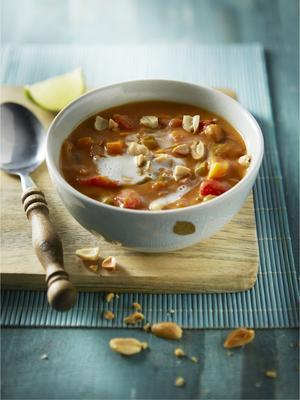 peanut soup with sweet potato