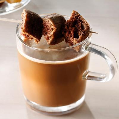 chocolate-espresso with cookie stick