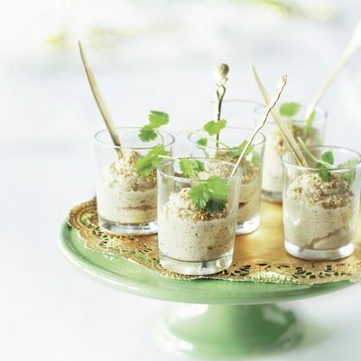 cauliflower mousse with roasted sesame