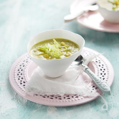 leek soup with corn