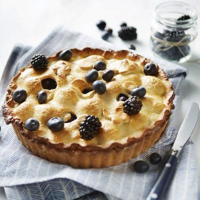 classic american pie with blackberries and berries