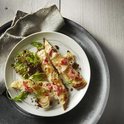 flammkuchen with bacon and celeriac