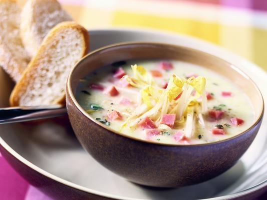 Chicory Soup With Ham And Cheese