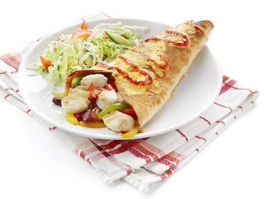 tortillas with cod and paprika