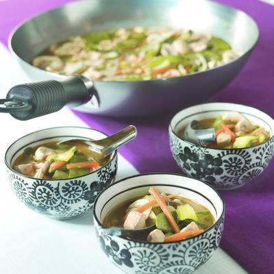 thai vegetable soup from the wok