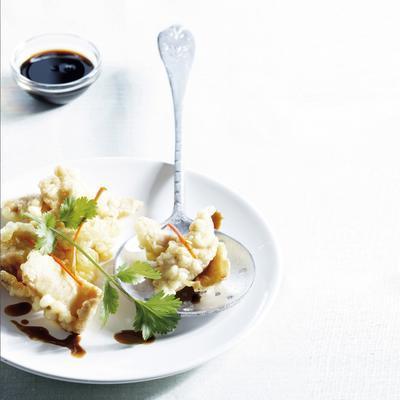 tempura of marinated chicken