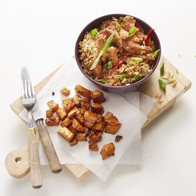 Eastern celeriac with fried rice