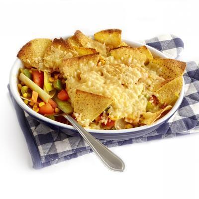leek dish with corn