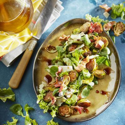 salad with sprouts from the oven