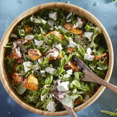 sweet potato salad with feta and coriander