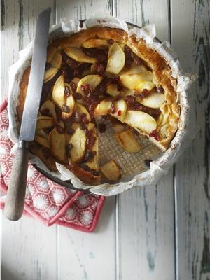 apple pie with cranberries